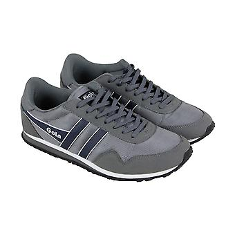 Gola Monaco Ballistic  Mens Gray Retro Low Top Lifestyle Sneakers Shoes