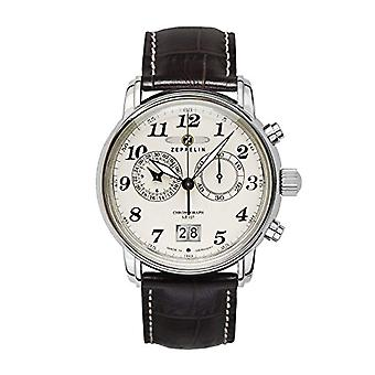 Zeppelin quartz chronograph men's watch with leather band _ 76845