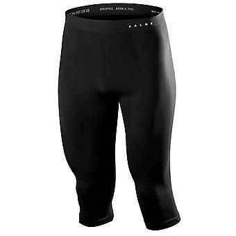 Falke máximo morno meia-calça 3/4 - preto