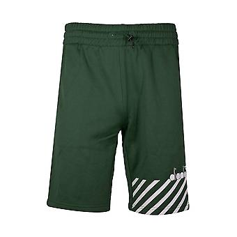 Diadora Green Polyester Shorts