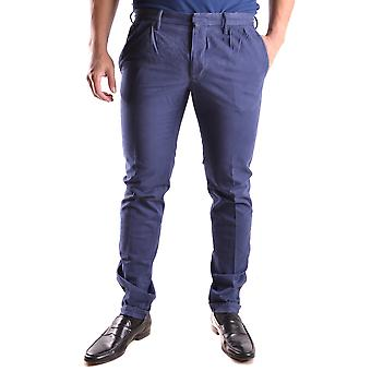 Incotex Ezbc093018 Men's Blue Cotton Pants