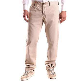 Incotex Ezbc093014 Men's Beige Cotton Pants