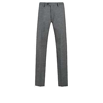 Dobell Mens grijs Sharkskin Suit broek Regular Fit