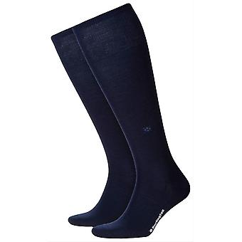 Burlington Leeds Knee High chaussettes - marine Marine