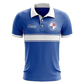 Panama-Konzept-Streifen-Polo-Shirt (blau)