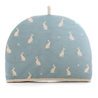 Dexam Stargazing Hare 6 Cup Tea Cosy, Blue