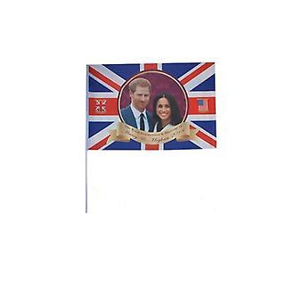 Royal Couple Hand Held Flag - Polyester