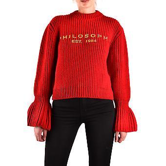 Filosofia Por Lorenzo Serafini Ezbc087040 Women's Red Wool Sweater