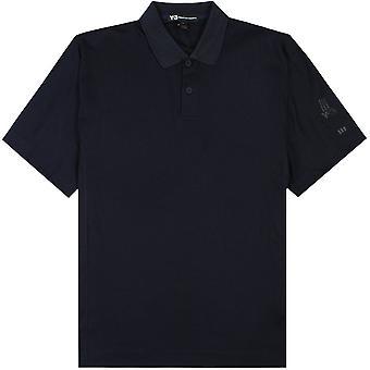 Y-3 arm logo Piké tröja marinblå