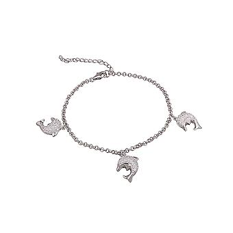 Bracelet 19 Cm Dolphins Pave