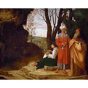 Trois façons, Giorgione, 50x40cm