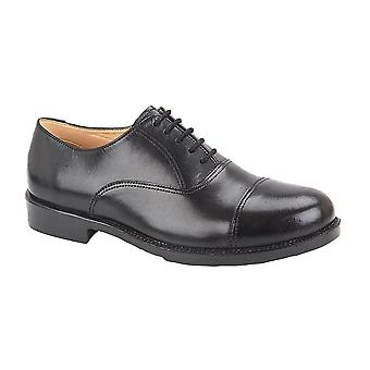 Grafters Mens Cuir Capped Oxford Laced Cadet Chaussure