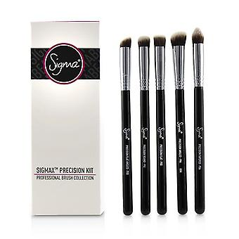 Sigma Beauty Sigmax Precision Kit Professional Brush Collection-# Black 5pcs