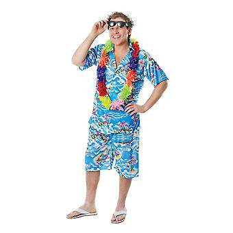 Bristol Novelty Mens Hawaiian Shirt And Shorts