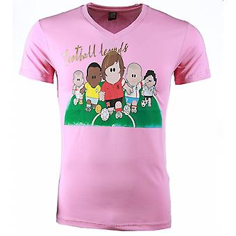 Camiseta-Football Legends Print-Pink