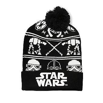 Beanie Cap Star Wars - Black White Darth Vader/Storm Trooper stbn0005
