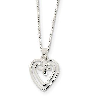 925 sterling sølv solid polert kjærlighet hjerter med due halskjede 18 tommers våren ring smykker gaver til kvinner