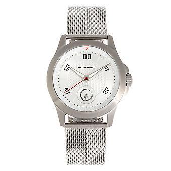 Morphic M80 Serie Armband uhr w/Datum - Silber/Weiß