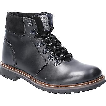 Base London Mens Fawn Burnished Leather Lace Up Ankle Boots (en anglais)