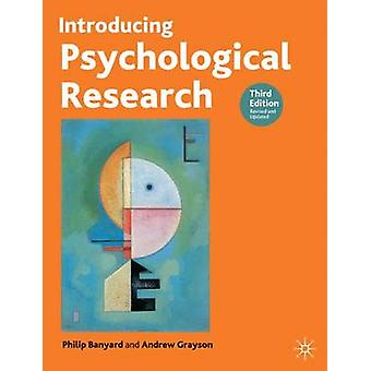 Introducing Psychological Research (3rd Revised edition) by Philip Ba