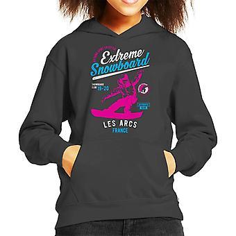 Extreme Snowboard '19 '20 Les Arcs France Kid's Hooded Sweatshirt