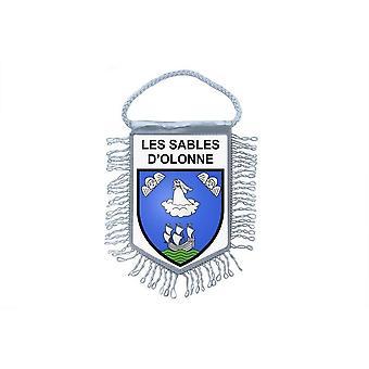 Fanion Mini Flag Country Souvenir Car Blason France Sables D-apos;Olonne