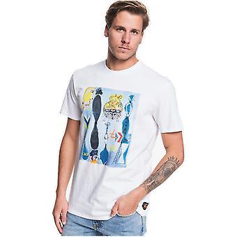 Quiksilver Art House manga curta T-shirt em branco