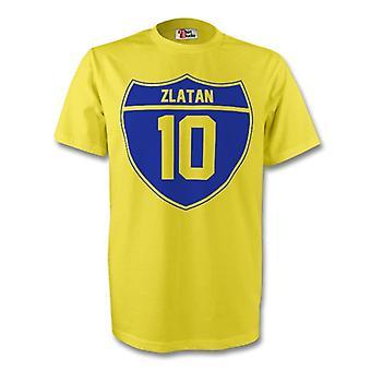 Zlatan Ibrahimovic Suecia Crest Tee (amarillo)