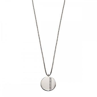 Fiorelli Silver Tiny Zirconia Baguettes Silver Necklace N4270C