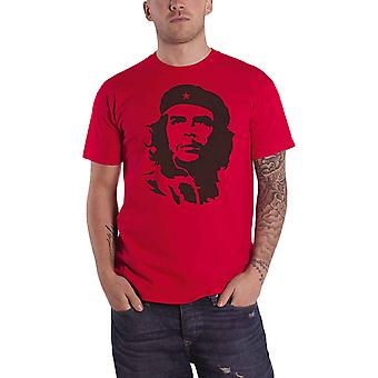 Che Guevara T Shirt Black On Red Portrait Cuban Revolution new Official Mens