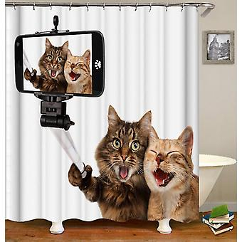 Cats Taking A Selfie Shower Curtain