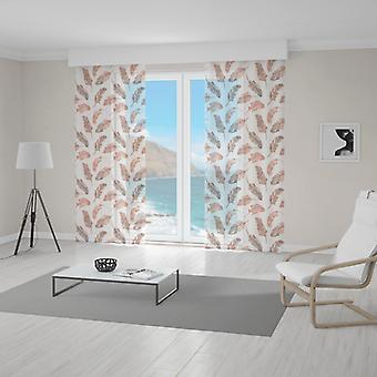 Meesoz Net Curtain - Brown Feathers