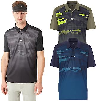 Oakley Sport Mens Deep Rough Camo Moisture Wicking Polo Shirt