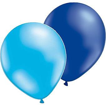 Mix Balloons 12-pack light blue/Blue Metallic
