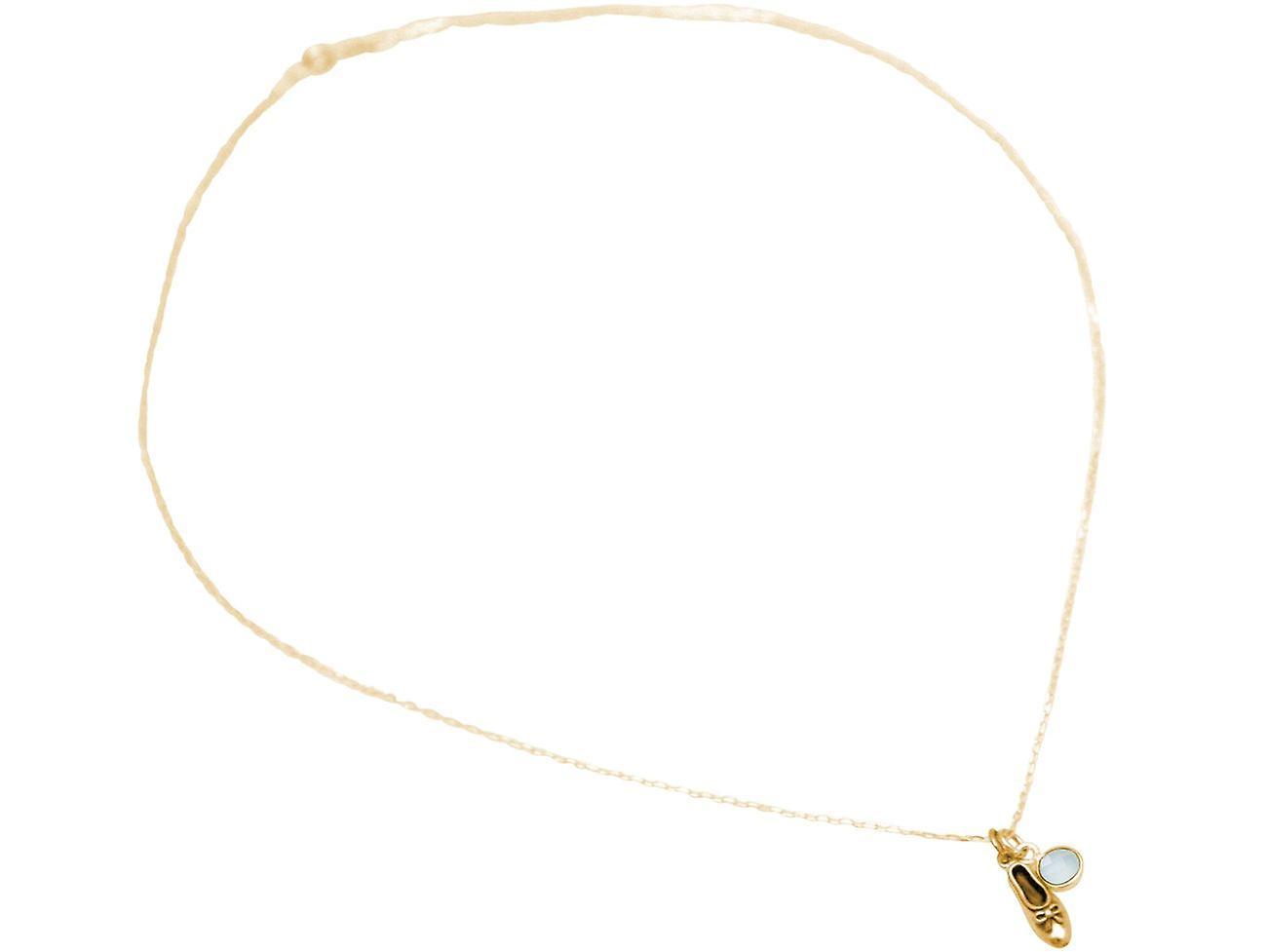 GEMSHINE Ballett Schuh Ballerina in 925 Silber, vergoldet oder rose - Chalcedon