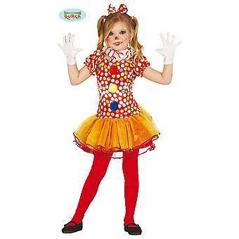 Clown Kleid Kostüm für Mädchen Karneval Zirkus Manege Fasching