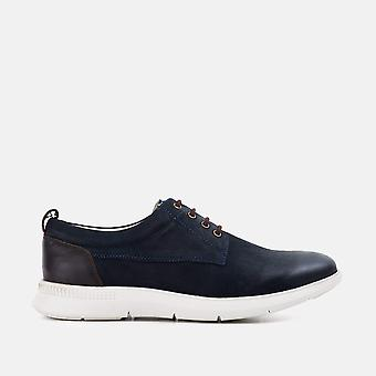 Mens redfoot motion navy casual derby boot