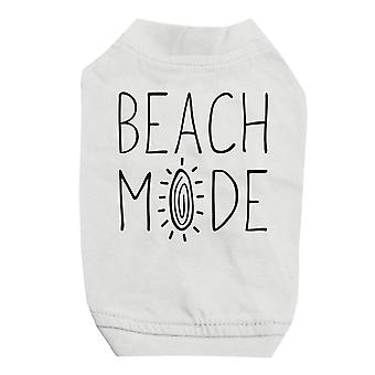 365 Printing Beach Mode White Pet Shirt for Small Dogs Cute Graphic Dog Shirt