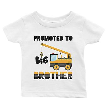 Promoted To Big Brother Baby Announcement Baby Gift Tee White