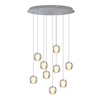 Industrial Pendant Chandelier Lighting Ceiling Lamp Venus 9 Pendant Round Canopy