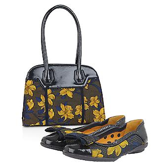 Ruby Shoo Amber Ballerina Pumps & Matching Montpellier Bag