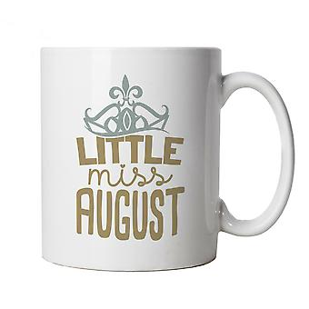 Little Miss August Mug | Happy Birthday Celebration Party Getting Older | Age Related Year Birthday Novelty Gift Present | Birthday Cup Gift