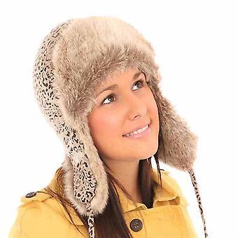 Neue Mens Womens Unisex Tier drucken Trapper warme Winter Thermal Hut AW113