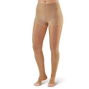Sten UK signatur spring åben tå Compression Tights [stil P268] silkeagtig nøgen XL