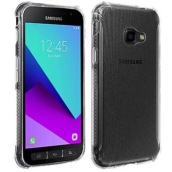 Siliconen cover voor Galaxy Xcover 4 & 4s & gehard glas film-4Smarts, transparant