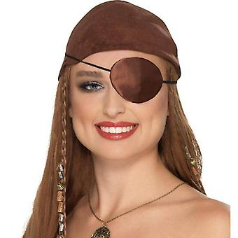 Deluxe Pirate Eyepatch Adult Brown