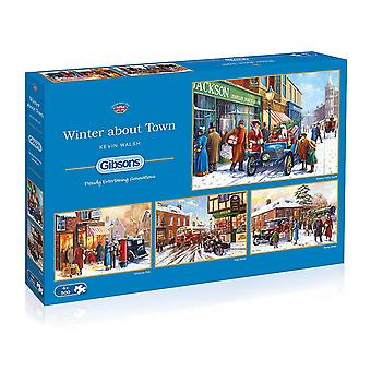 Gibsons Winter About Town Jigsaw Puzzle, 4 x 500 piece