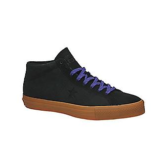 Converse Unisex One Star Pro Leather Mid Black/Gum/Candy Grape Skate Shoe 11 ...
