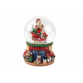 Gisela Graham Santa avec Sleigh Musical Snow Dome