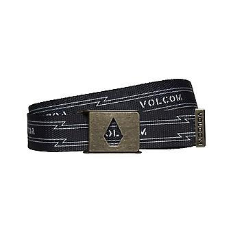 Volcom Stone Cut Webbing Belt in Black
